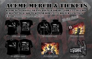 ACFMF 2016 Merch Tickets und Co
